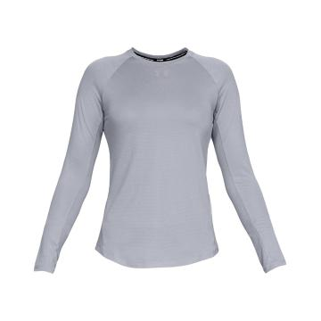 Under Armour Women's Qualifier Long Sleeve - Mod Grey/Mod Grey