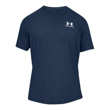 Under Armour Men's Sportstyle Essential Tee - Academy/White