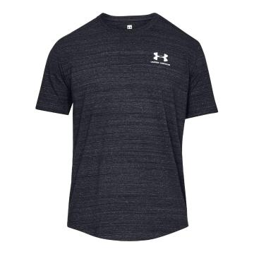 Under Armour Men's Sportstyle Essential Tee - Black/White