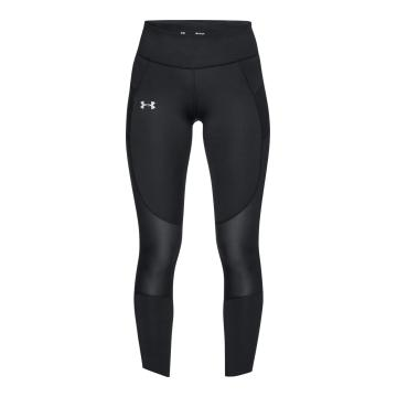 Under Armour Women's Speedpocket Run Crop Tight - Black/Reflect