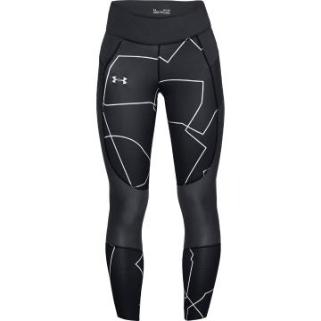 Under Armour Women's Speedpocket Print Tight - Black/Reflect