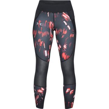 Under Armour Women's Speedpocket Print Tight - Blk/AfterBurn/Reflect