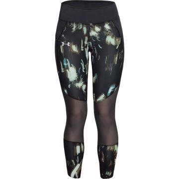 Under Armour Women's Speedpocket Print Tight - Blk/Deceit/Reflect