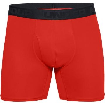 Under Armour Men's Microthread 6in Boxer - Radio Red/Black