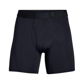 "Under Armour Men's Tech Mesh 6"" 2Pack Boxers - Black/Jet Grey LightHthr"