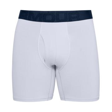 Under Armour Mens TechMesh 6in 2Pack Boxer - Academy/Mod Grey