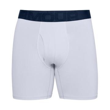 "Under Armour Men's Tech Mesh 6"" 2Pack Boxers - Academy/Mod Grey"