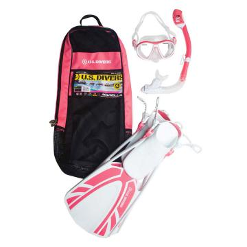 US Divers Women's Marella Snorkelling Set - Pink White