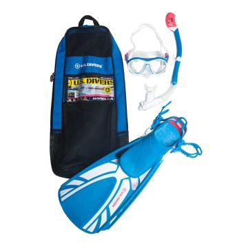 US Divers Women's Marella Snorkelling Set - Aqua Blue