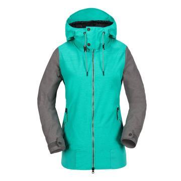Volcom 2018 Women's Stave 10k Snow Jacket - Teal Green