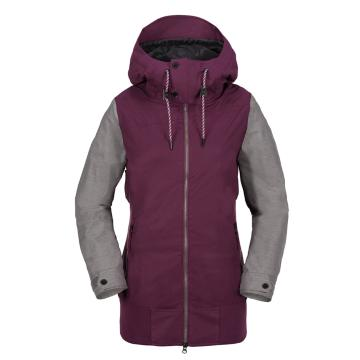 Volcom 2018 Women's Stave 10k Snow Jacket - Winter Orchid