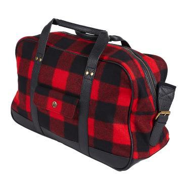 Swanndri Wool Overnight Bag - Red/Black