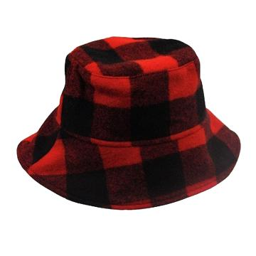 Swanndri Crusher Hat - Red/Black check