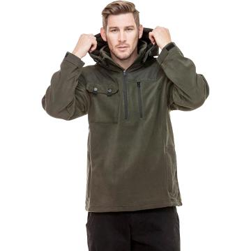 Swanndri Men's High Rock Fleece Pullover - Dark Olive