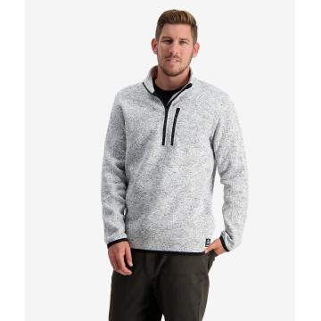 Swanndri Men's Heathcote Valley 1/4 Zip Fleece - Grey Marle