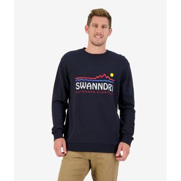 Swanndri Men's Horizon Crew Fleece - Navy