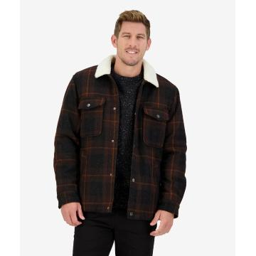 Swanndri Men's Kaituna Jacket - Double Brown Check