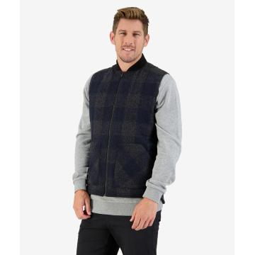 Swanndri Men's West Melton Vest - Graphite Check