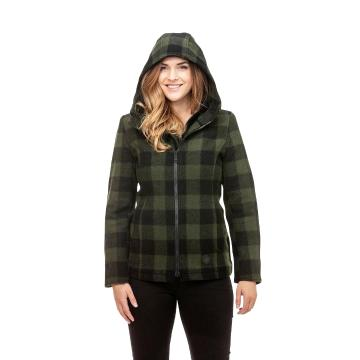 Swanndri Women's Seattle Wool Hoody - Olive/Black Check