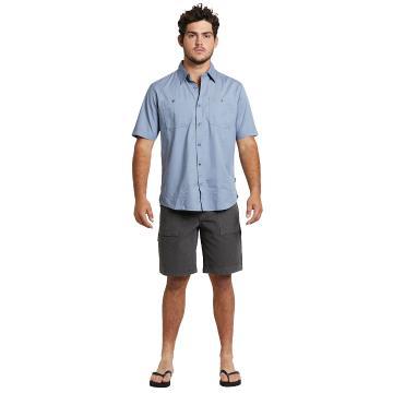Swanndri Mens Bradshaw S/S Work Shirt - Lime Stone