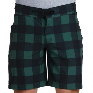 Swanndri Mens Offshore Board Short - Olive/Black Check