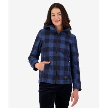 Swanndri Women's Seattle Wool Hood - Ink Check