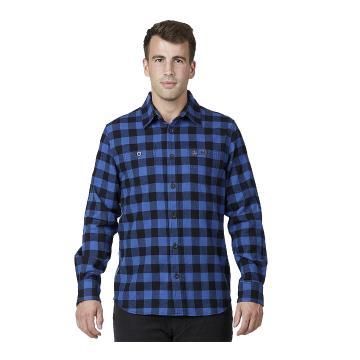 Swanndri Men's Marylebone Cotton Long Sleeve Shirt - Blue/Black Check