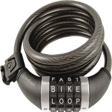 WordLock 4 Dial 10mm 5ft Cable Lock