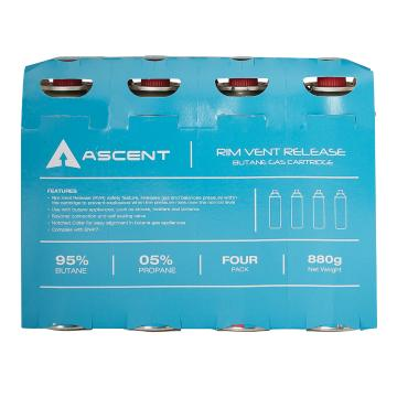 Ascent 220gm Tall Butane Cartridge