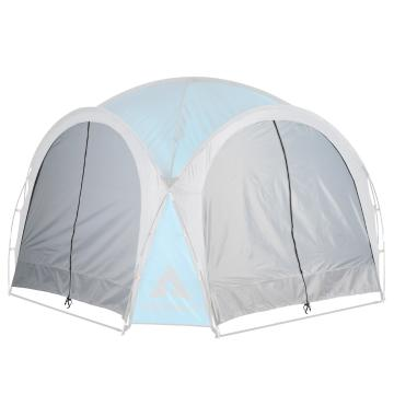 Ascent Cabana 3.0 x 3.0 Solid Side Walls with Zip Door - 2pc - Light Grey