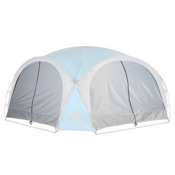 Ascent Cabana 4.5 x 4.5 Solid Side Walls - 2pc - Light Grey