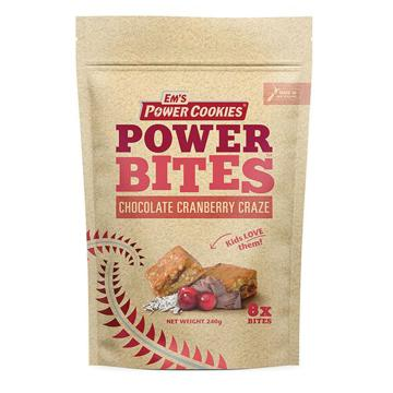 Em's Power Cookies Power Cookie - Bites 8 Pack - Chocolate Cranberry Craze