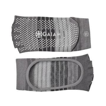 Gaiam Yoga Socks Mary Jane - Grey Dots