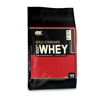 Optimum Nutrition 100% Whey Protein - 10lb - Double Rich Chocolate