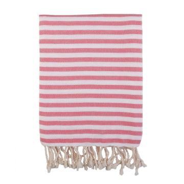 Barine Home 2021 Herringbone Turkish Towel - Flamingo