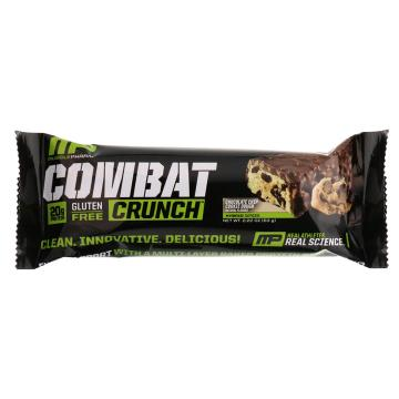 Musclepharm Combat Crunch Bar 63g - Choc Chip Cookie Dough - Chocolate Chip Cookie Dough